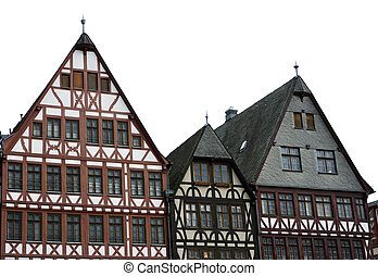 Half Timbered House - Half timbered houses at the Roemerberg...
