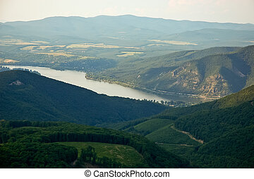 View from Dobogoko to Danube river - View from Dobogoko hill...