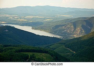View from Dobogoko to Danube river - View from Dobogoko hill...