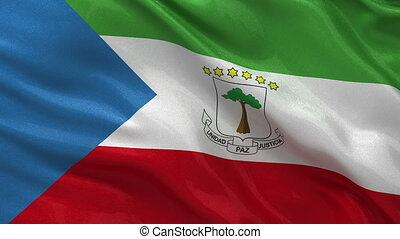 Flag of Equatorial Guinea loop - Flag of Equatorial Guinea...