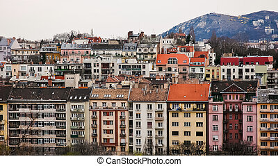Panoramic view of Buda, Budapest - Panoramic overview over...