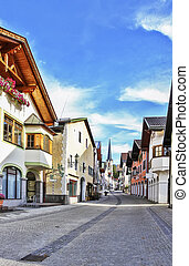street in Garmisch-Partenkirchen, Germany - Street with...