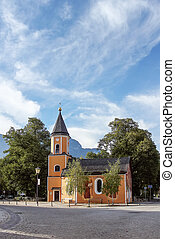 church in Garmisch-Partenkirchen, Germany - church in...