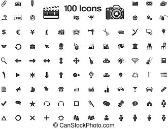 100 icons - favicon - suitable for user interface