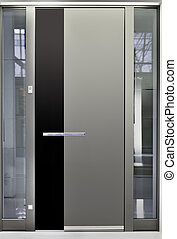 Aluminum Front Door - Massive Metallic Entry Front Door