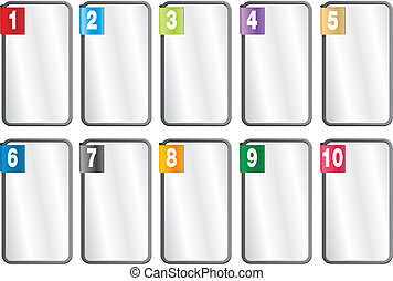 1-10 number frames - suitable for user interface