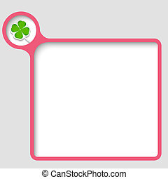 vector text frame with cloverleaf