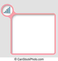 vector text frame with graph