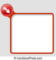 vector text frame with arrow