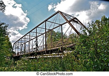 Whipple Truss Bridge - A whipple truss bridge spans the Big...
