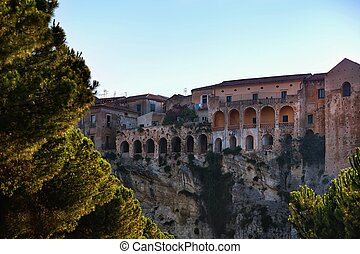 Tropea - an ancient city in souther - The old town of Tropea...