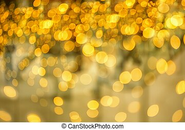 Christmas gold light - Abstract background of candlelights...