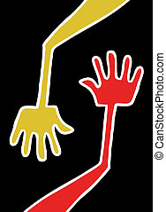 Two hands - Creative design of two hands