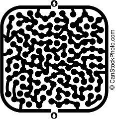 Circles maze - Creative design of circles maze
