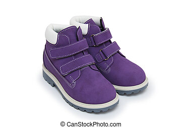 Purple children`s boots