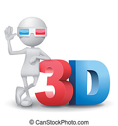 3d person with a 3d word