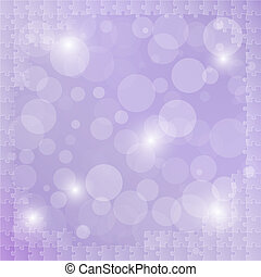 violet background with puzzle