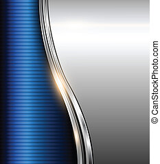 Abstract business background blue and silver, vector...