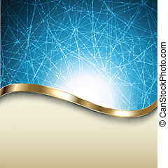 Abstract background - Abstract blue background with metallic...