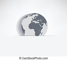 Earth symbol - Paper background with flap and symbol, earth...
