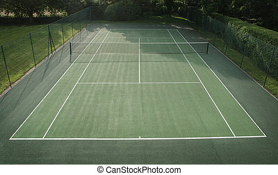 tennis court - background image of tennis court taken from a...