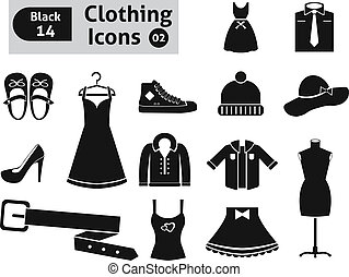 Clothing icons. Vector set for you design