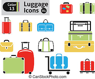 luggage icons. Vector set for you design