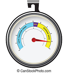Refrigerator Thermometer - Thermometer for refrigeration...