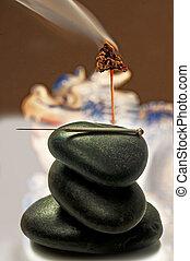 acupuncture needle and moxibustion