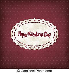 Vintage Valentines day - Vector vintage illustration for...