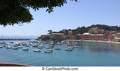 Small Italian port in Liguria - Small Italian port in Sestri...
