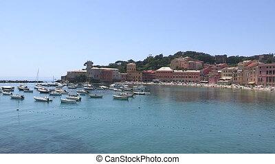 Small Italian port in Liguria