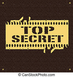 Top Secret - backround whit text Top Secret vector...