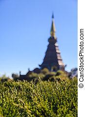 """""""Napamethanidon-Napaphonphumsiri"""" stupa at Doi Inthanon, Chiang"""