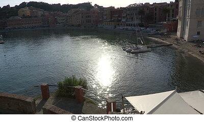Boats docked in Sestri Levante, Italy