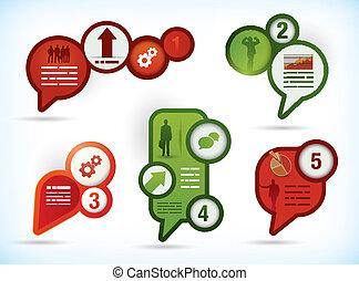 Five presentation template - Business presentation templates...