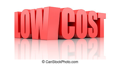 Low cost - Business concept. Isolated on white