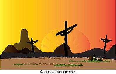 jesus Calvary, the cross