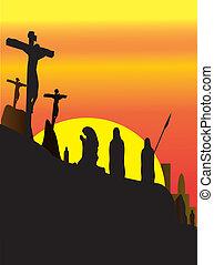 Jesus, christ, crucificação