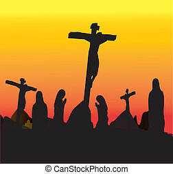 Crucifixion Jesus Christ - Three Crosses , Crucifixion Jesus...