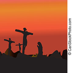 Christian Calvary - Three Crosses , Crucifixion Jesus Christ...