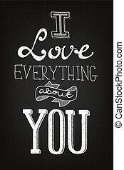 chalk art Valentine's Day card
