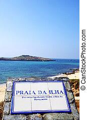 Beach of Pessegueiro island