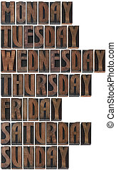 Days of the Week Cutout - Days of the Week in Printing...
