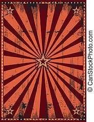Dirty red sunbeams - A vintage background for your...
