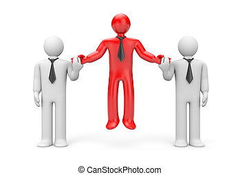 Standing out from the crowd - Success concept Isolated on...