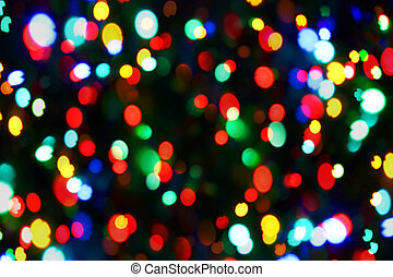 Holiday color unfocused lights - Holiday background from...