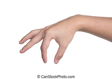 hand sign posture pick hold isolated - hand sign posture...