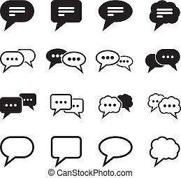 Speech Bubble Icon set for your design