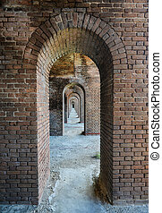 Arches, Fort Jefferson at the Dry Tortugas National Park -...